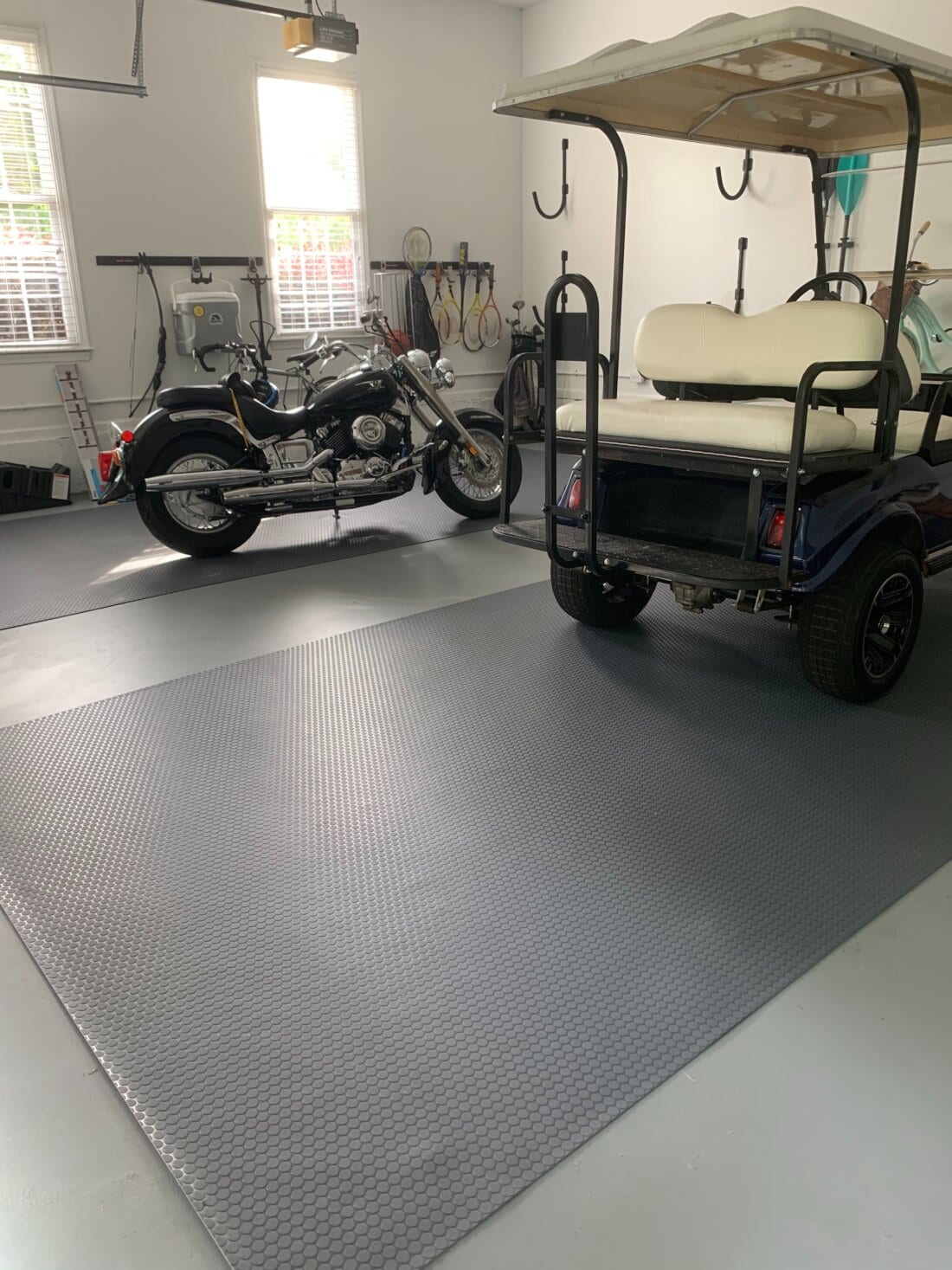 Small Coin Mat on finished garage