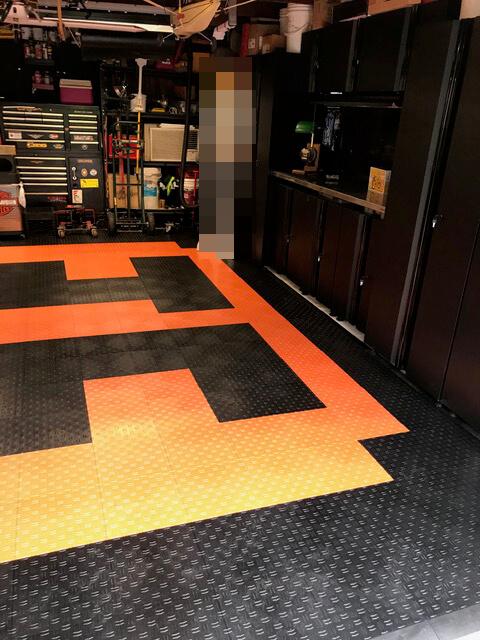 TrueLock HD Diamond Tiles on a Garage Floor