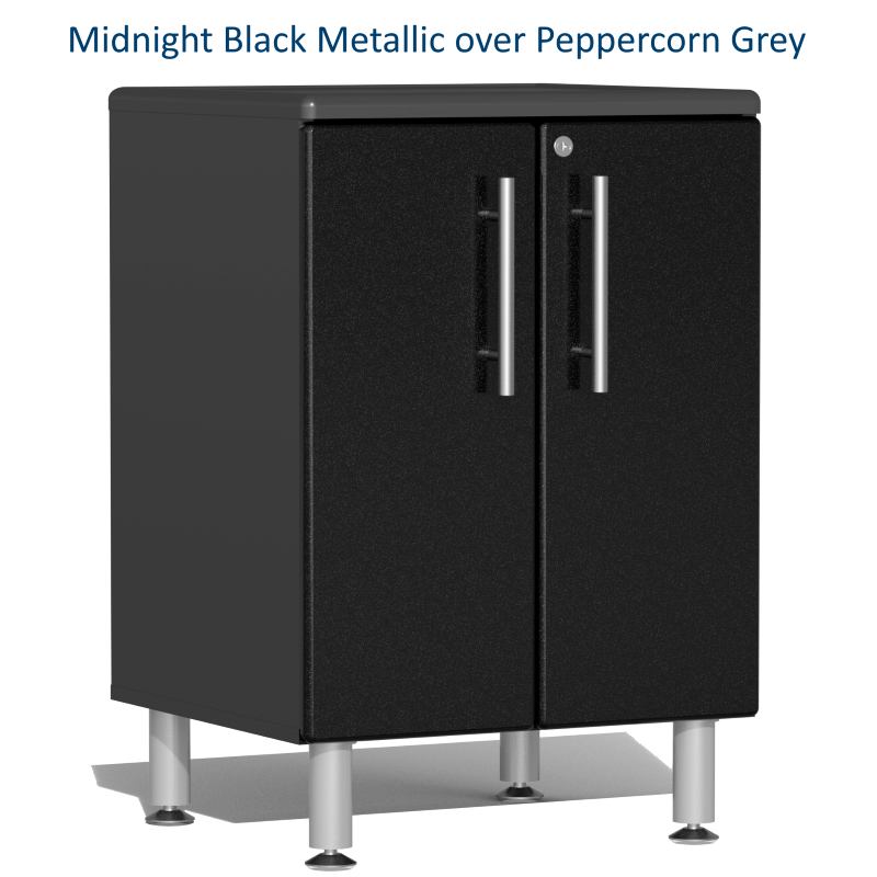 Midnight Black Metallic over Peppercorn Grey