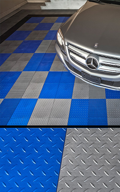 MotorMat DIamond Garage Floor Tiles