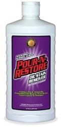 Pour n restore oil stain remover for Garage oil stain remover