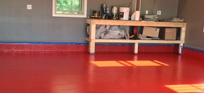 Red Rust Bullet Floor
