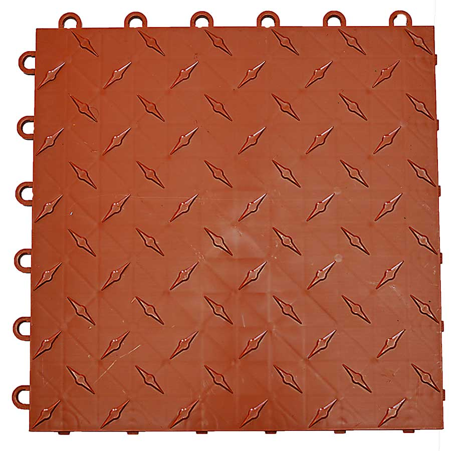 Diamond garage floor tile video review terracotta dailygadgetfo Image collections